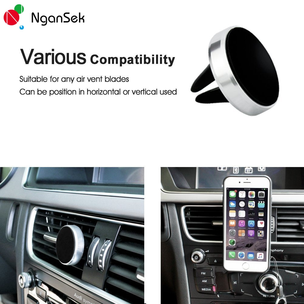 Magnetic Bracelet Car Holder Air Vent Mount GPS Stand Adjustable for iPhone Huawei Xiaomi Samsung Phone