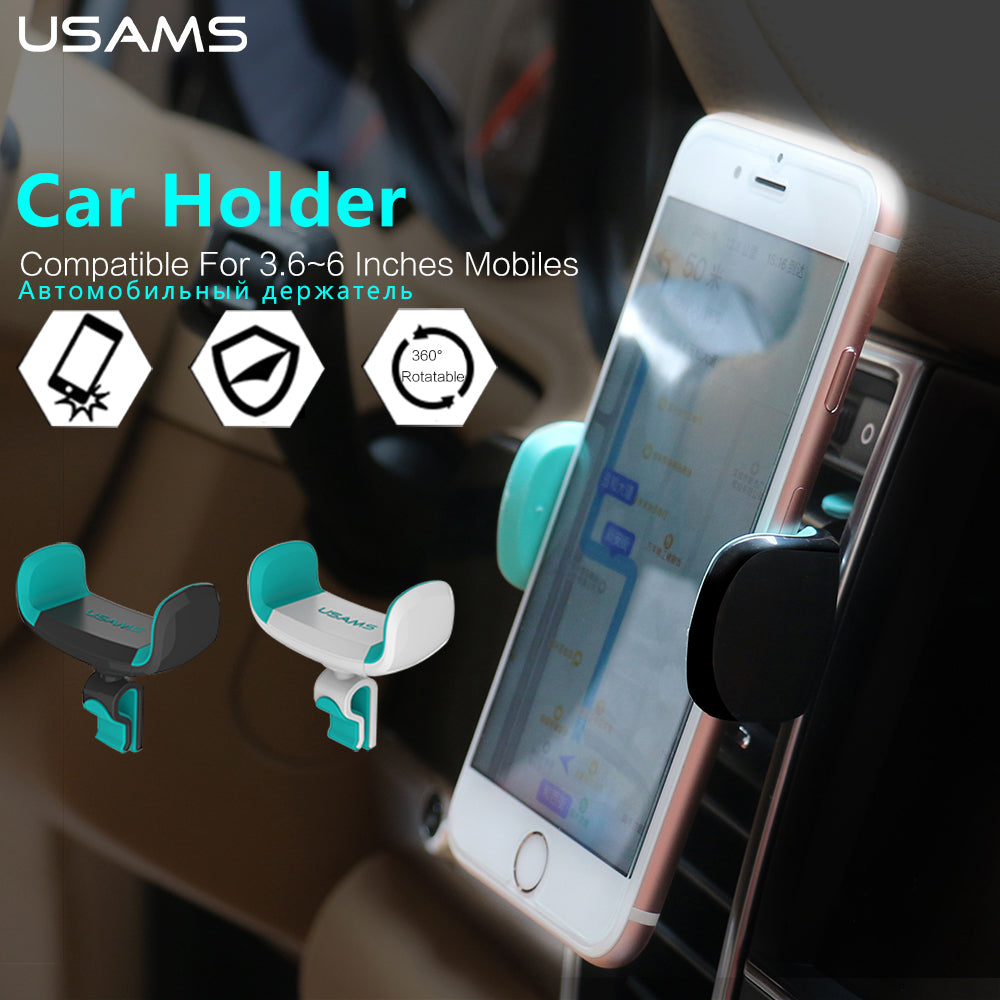 Car Phone Holder for iPhone Samsung Air Vent Mount Car Holder 360 Degree Rotatable