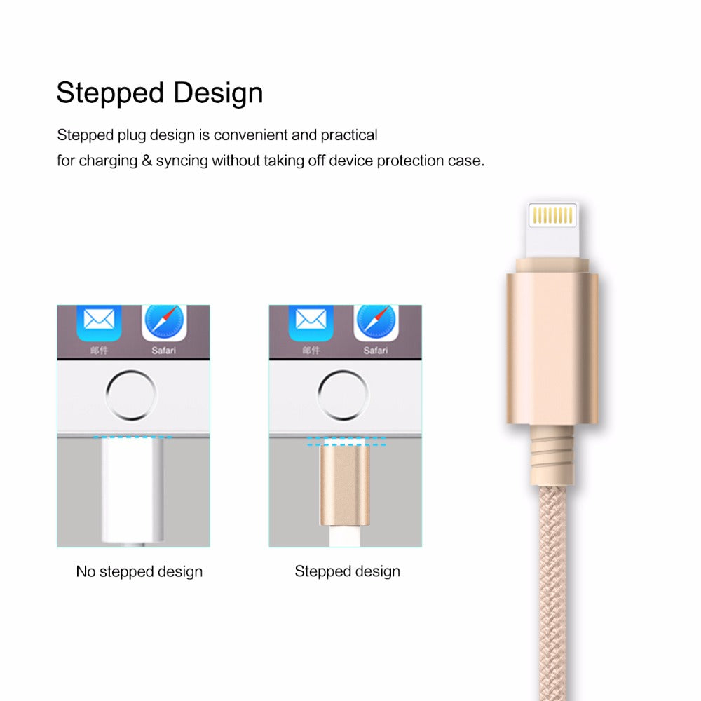 3 in 1 Charging USB Cable for iPhone & Android