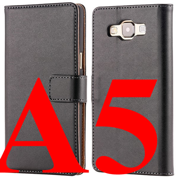 Genuine Leather Case Luxury Flip Cover For Samsung Galaxy A5 A5000 A7 A700 A8 2015