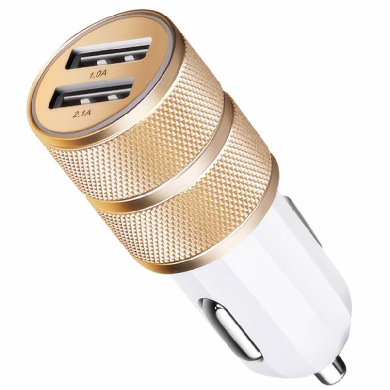 Universal LED Light 2 Ports USB Car Charger Adapter
