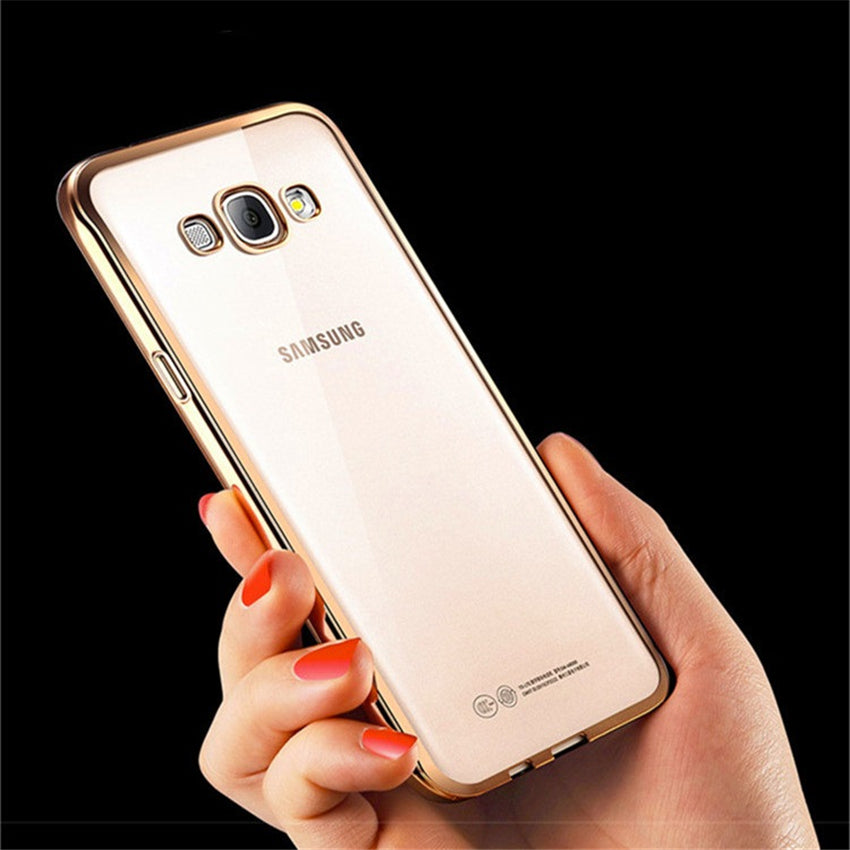 Luxury Plating Design Cover Case for Samsung Galaxy A3 A5 A7 A8 A9 J1 J3 J5 J7 C5 C7