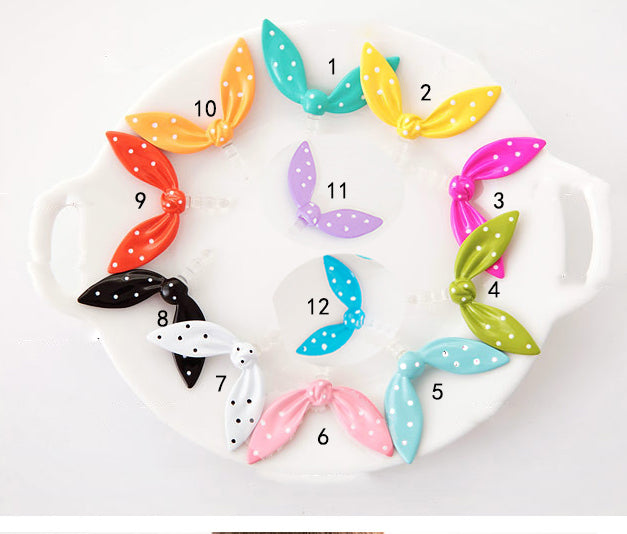 Cute Colorful Rabbit Ear Bowknot Dustproof Plug