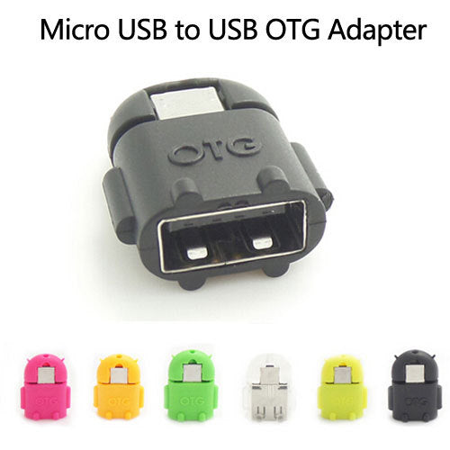 Android Robot Shaped Micro USB to USB Adapter