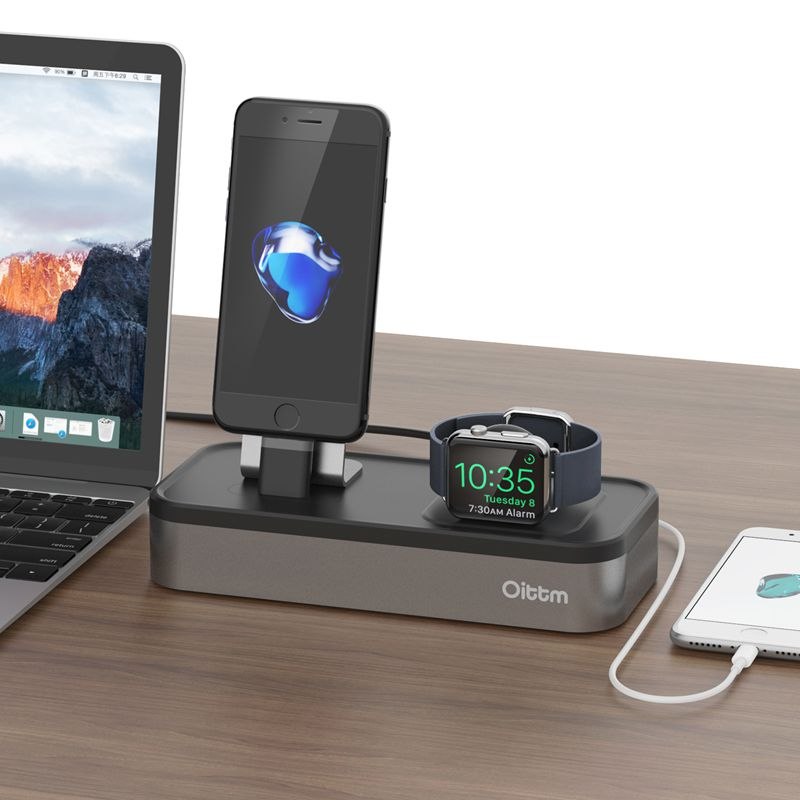 Apple Watch Stand Charger Dock with 3Ports USB Power Charging Stations