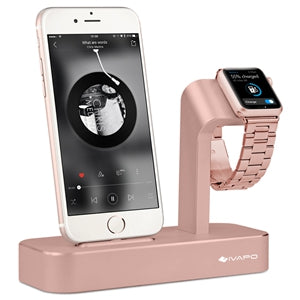 Solid Aluminum Stand Charger For Apple Watch & iPhone