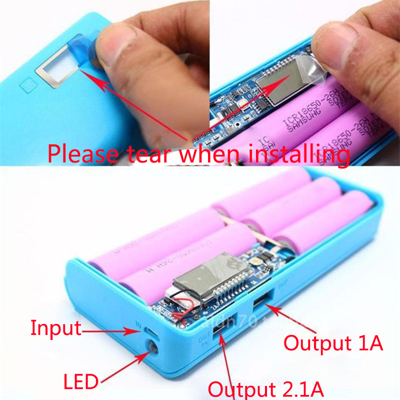DIY LCD Double USB Mobile Power Box Kit
