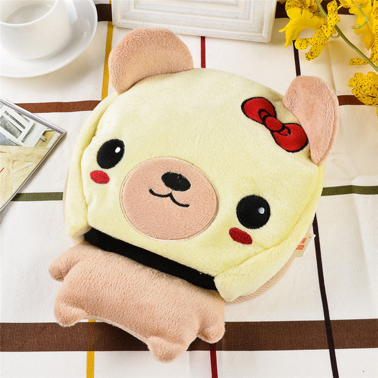 Plush Winter Warm Heated Mouse Pad Thick Cartoon USB Port with Wristguard