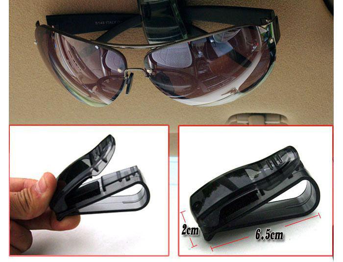 Auto Accessories ABS Sunglasses Eyeglasses Ticket Holder Clip
