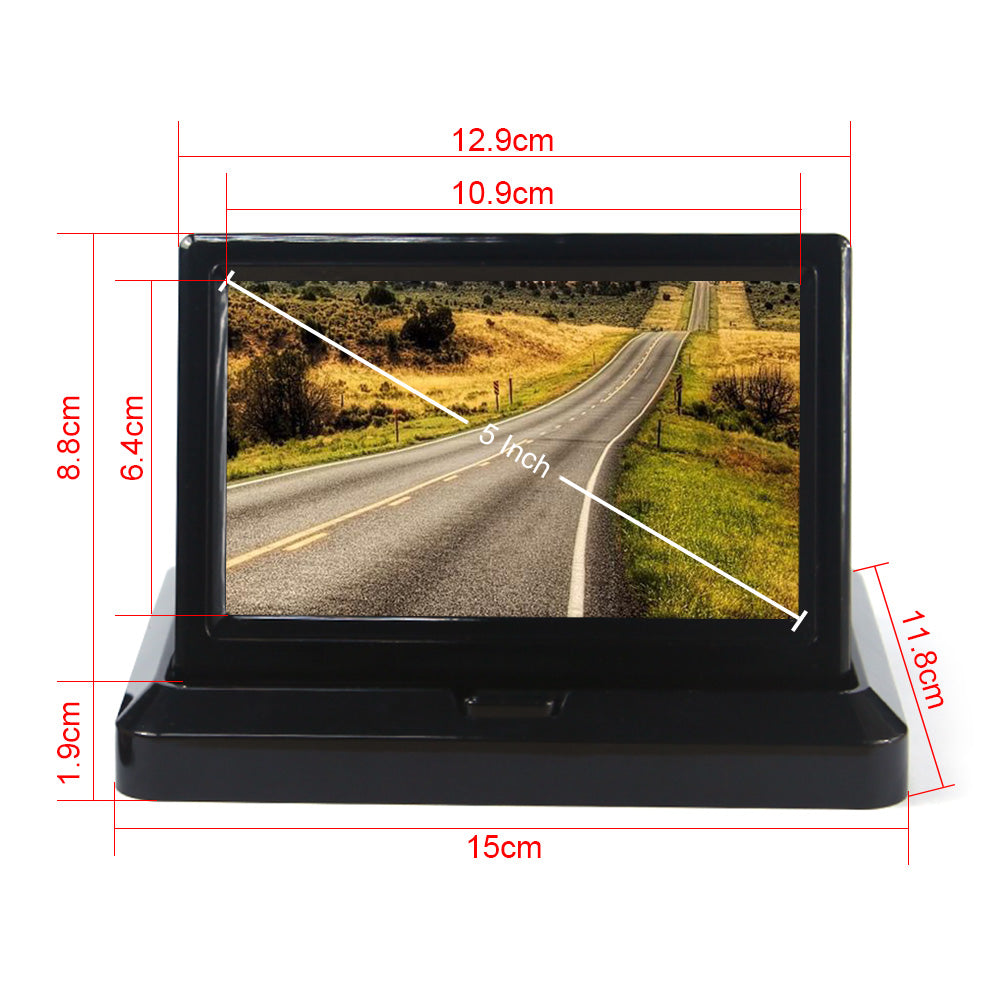 "5"" Car Rear View System Foldable TFT Color LCD Monitor"