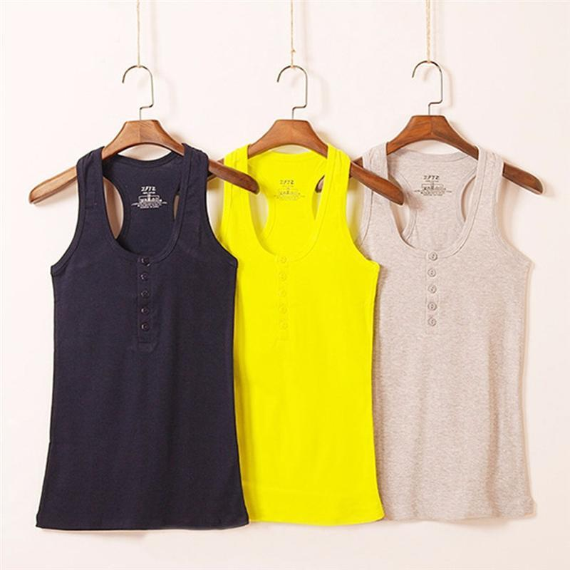 Camisole Basic Solid Cotton Summer Tank Tops