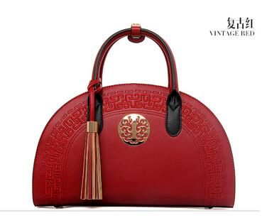 Chinese Style Vintage Creative Cross Leather Shoulder/Hand Bag