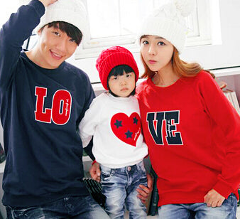 LOVE Family Matching Casual Tops