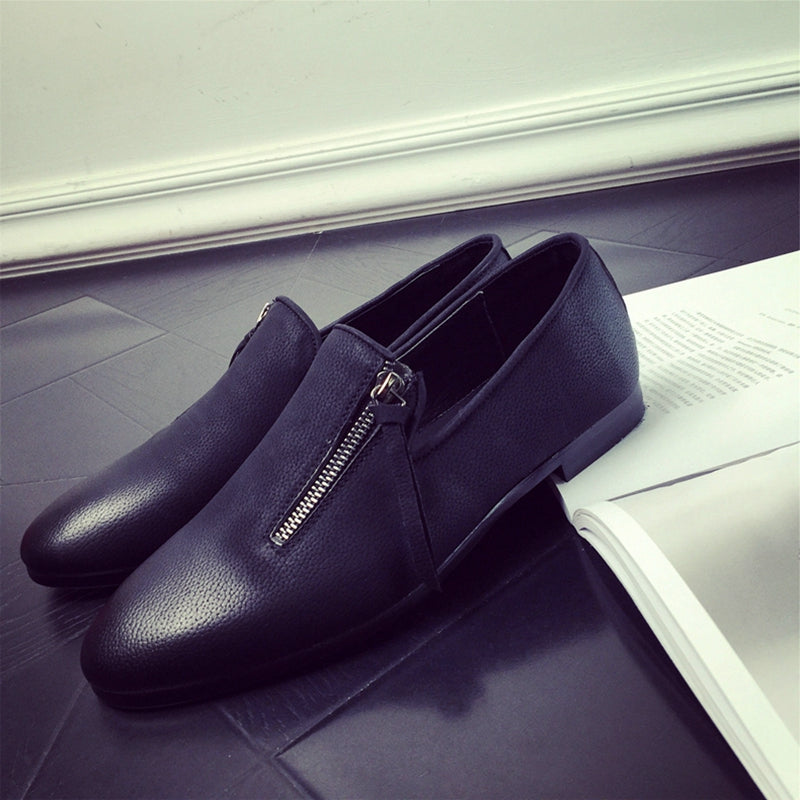 Casual Leather Slip On Flats Loafers Shoes