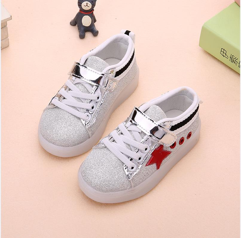 Casual Unisex Glowing Leather Sneakers