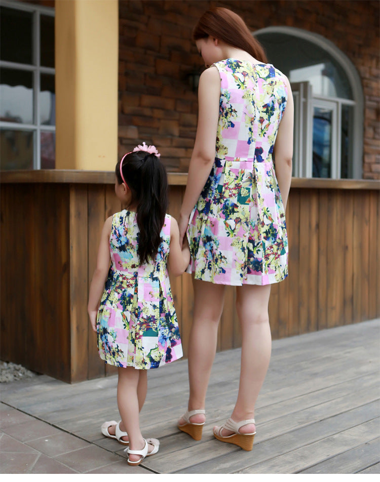 Cute Tide Vest Sleeveless Matching Dress