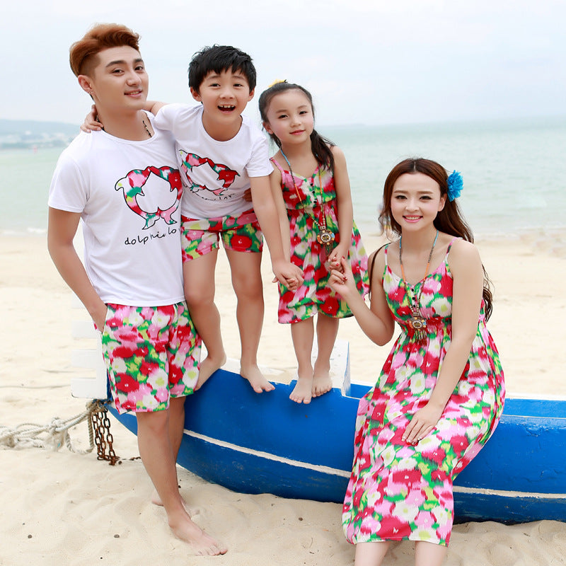 Beachwear Family Matching Dress