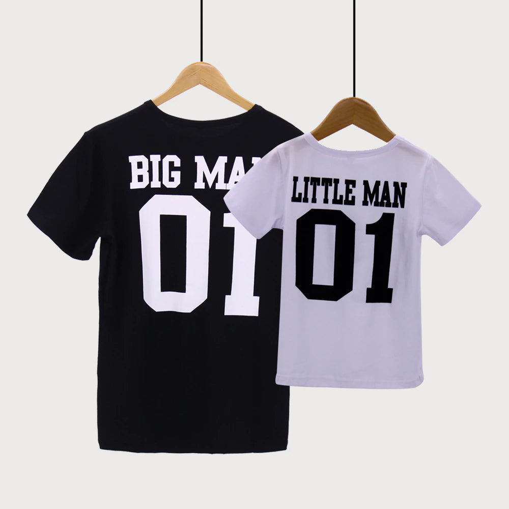"""Big Man & Little Man"" Father Son Creative T-shirt"