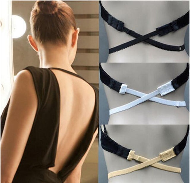 Fully Adjustable Low Back Backless Adapter Converter Bra Strap