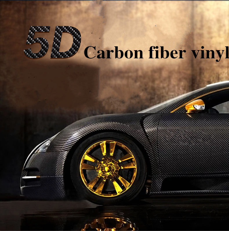 "50x200cm 19.7""x78.7"" High Gloss 5D Car Styling Sticker Carbon Fiber Vinyl Film Air"
