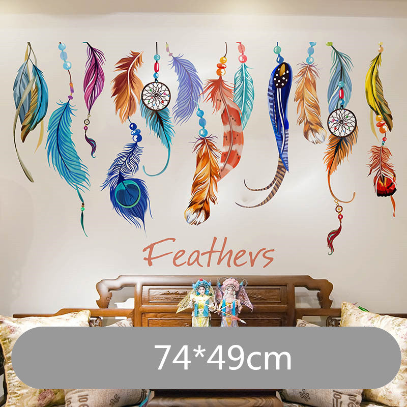 Feather Wall Sticker Mural Art  Home Decor For Living Room