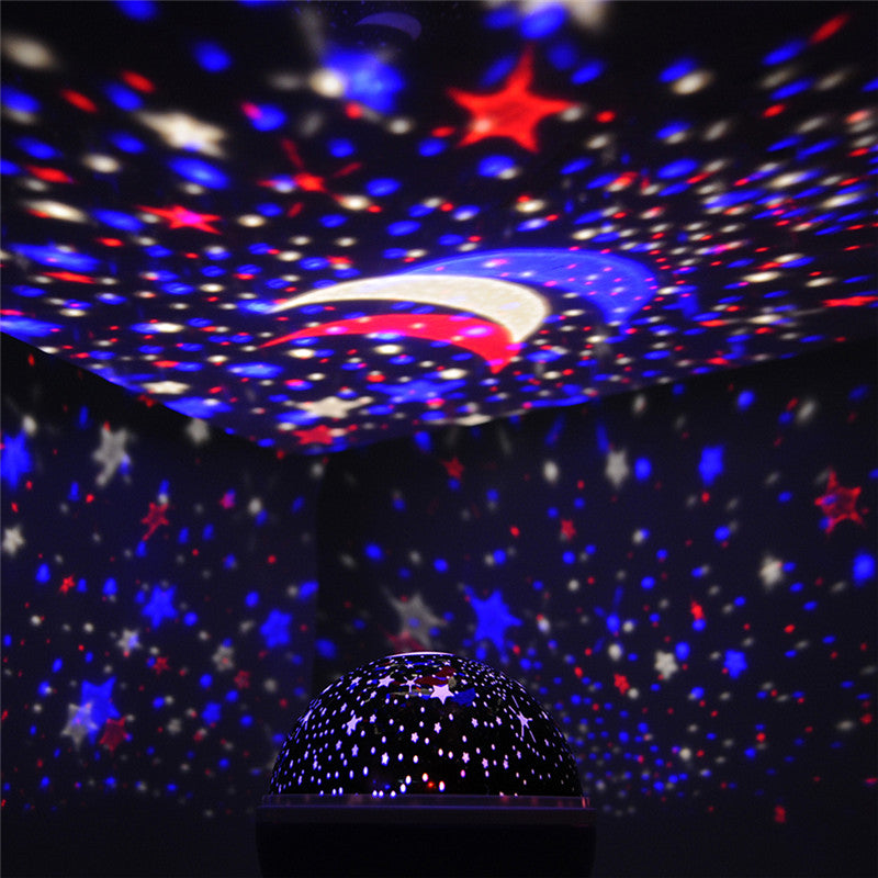 Sun Star Lighting Lamp LED 360 Degree Romantic Room Rotating Cosmos Star Projector Night Light