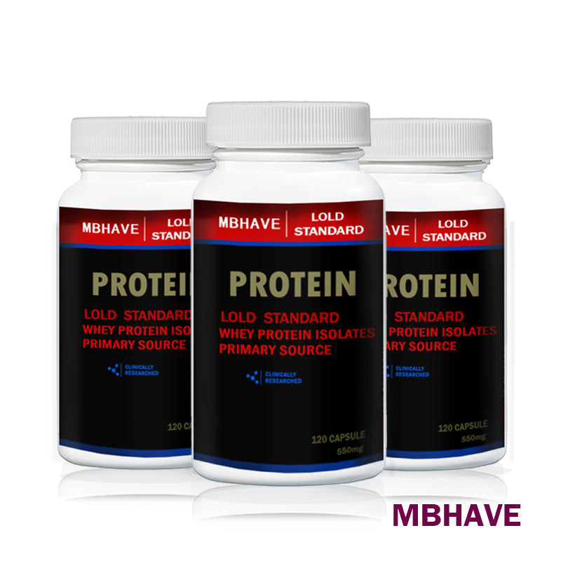 3 Bottles Whey Protein Powder 360 Capsules 550mg