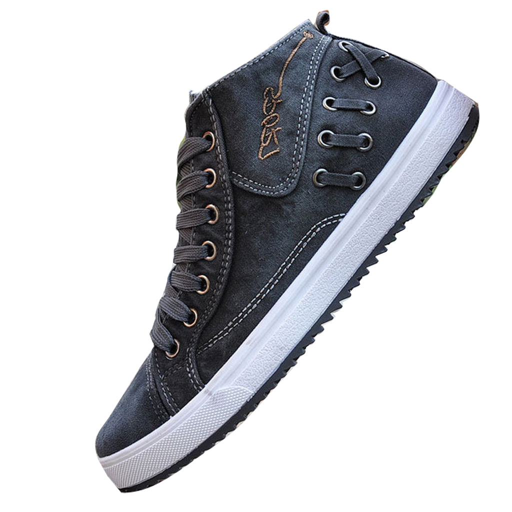 Casual Denim Canvas Lace Up Breathable Shoes