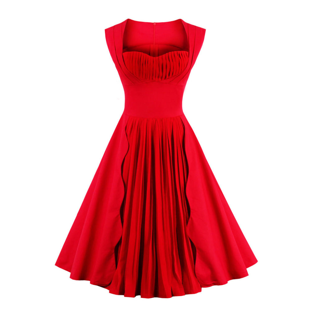 Retro Polka Red Pinup Rockabilly Sexy Party Dress