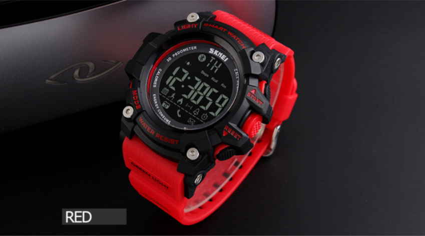 50M Waterproof Digital Pedometer Calories Chronograph Smart Watch