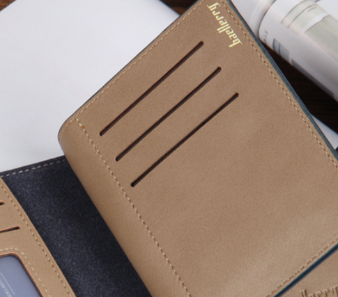 Brand Short Clutch Leather Men Wallet