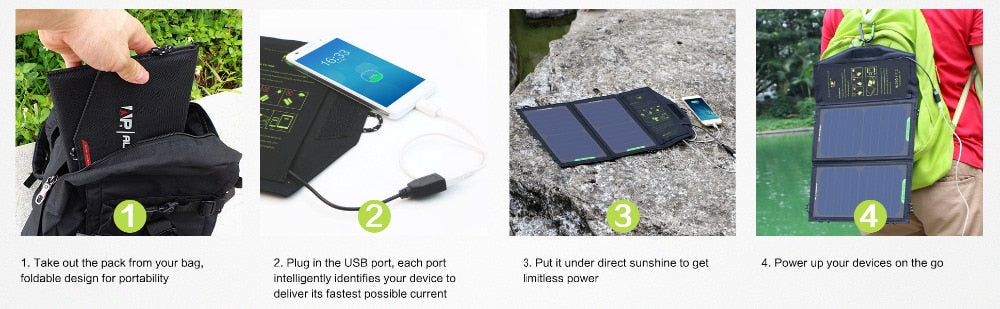 Portable Outdoor 10W 5V Solar Panel Charger For Phone