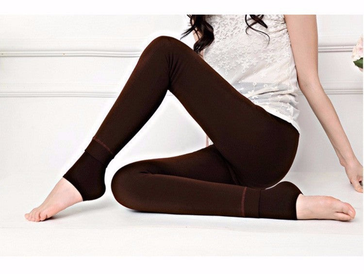 Elastic Slim Super Warm Thick Knitted Velvet Tights