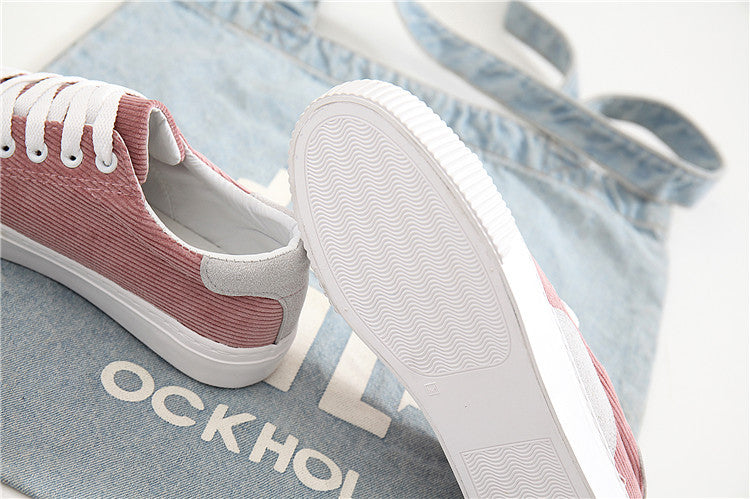 Vulcanized Flock Breathable Comfortable Sport Shoe