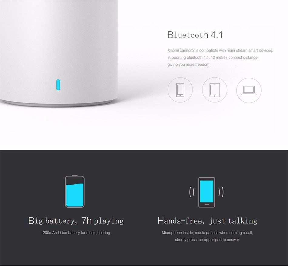 Original Xiaomi Bluetooth Smart Portable Wireless Loudspeaker for iPhone/Android Phone PC