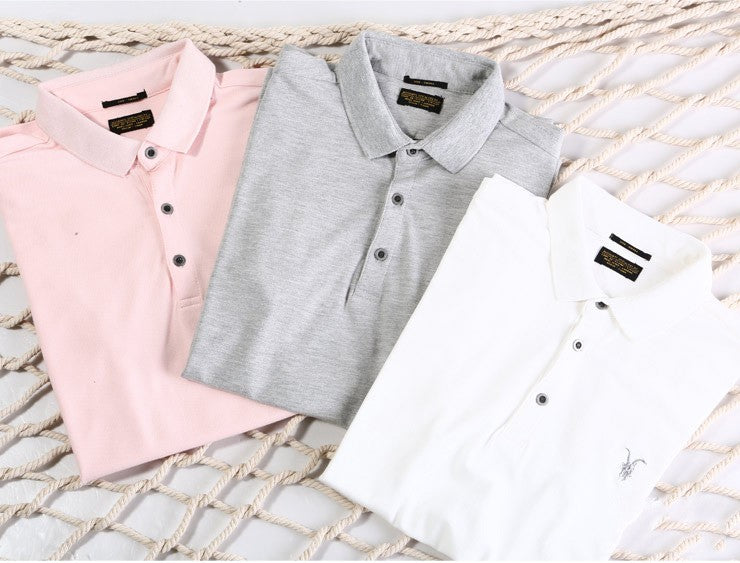 England Style Short Sleeve Slim Fit Cotton Men's Polo Shirt