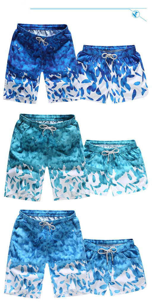 Fashion Floral Print Quick Dry Cool Beach Shorts For Men And Women