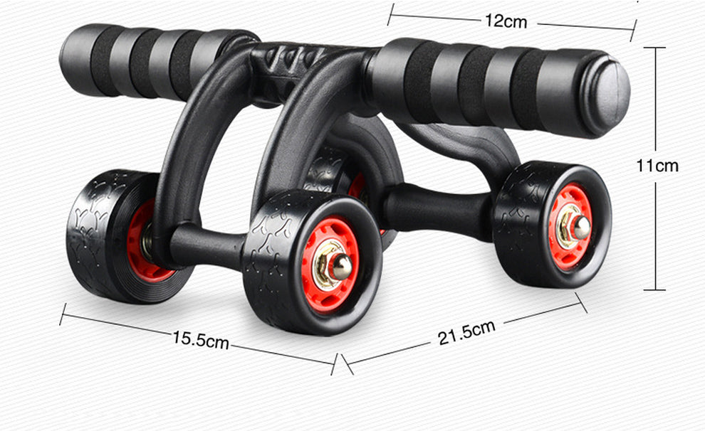4 Wheels Power Triple AB Abdominal Roller Workout Fitness Training