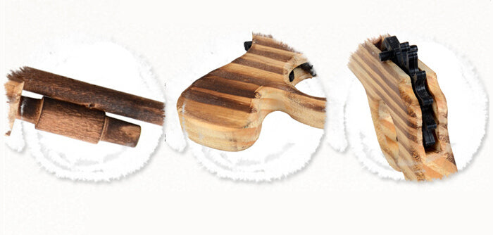 Classic Playing Rubber Band Wooden Toy Pistol