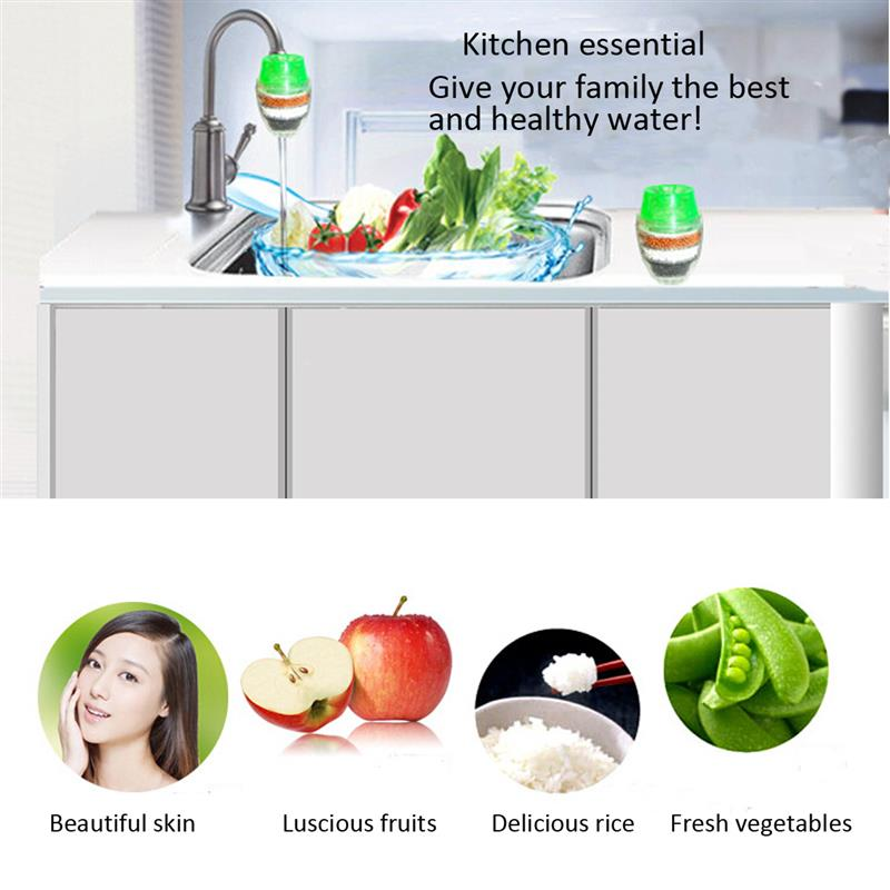 Mini Faucet Tap Water Clean Purifier Filter Carbon