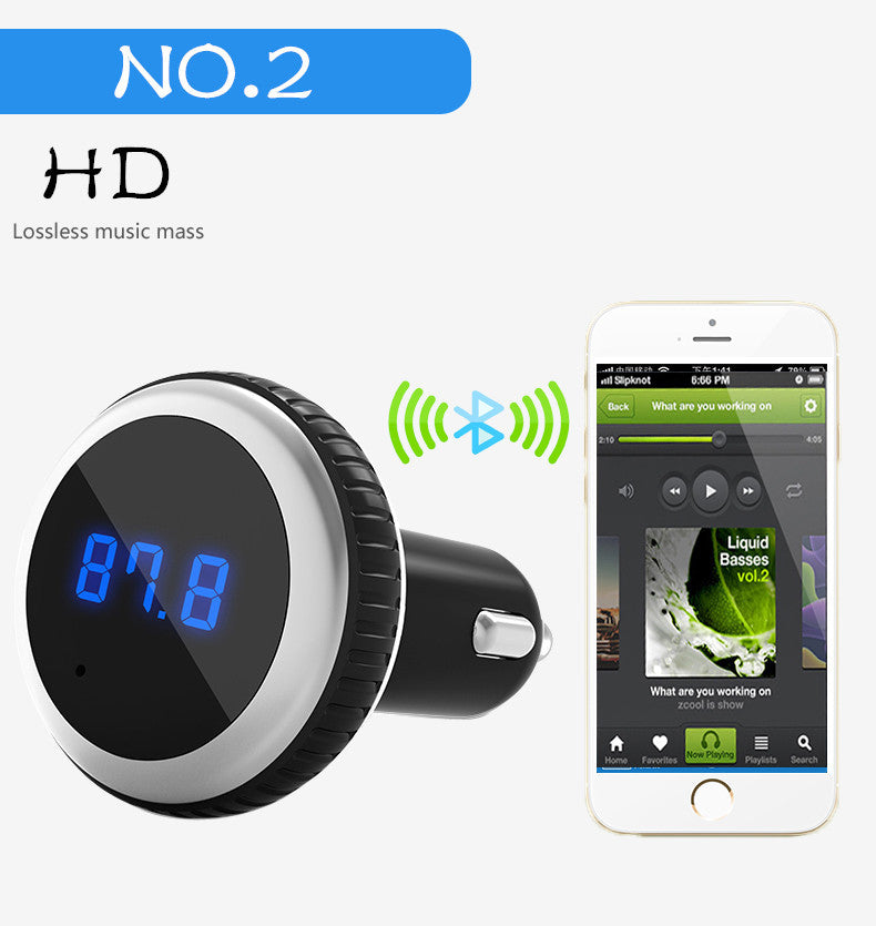 Car MP3 Player Bluetooth Handsfree, FM Transmitter  HD Loosless + LCD Screen