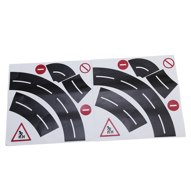 Creative DIY Wide Railway Road Traffic Road Washi Tape Sticker