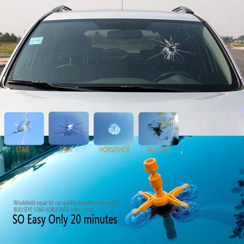 DIY Car Window & Windshield Glass Scratch Repair Tools Kit & Crack Restore