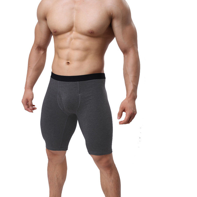 Breathable Tight Cotton Long Boxer Shorts