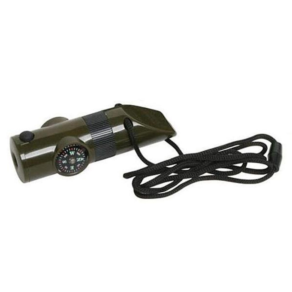 7 In1 Multifunctional Survival Kit Whistle Compass Thermometer LED Flashlight