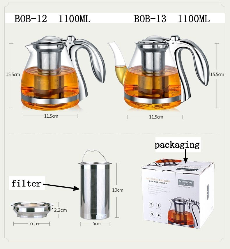 Large Capacity Elegant Glass Set Pot