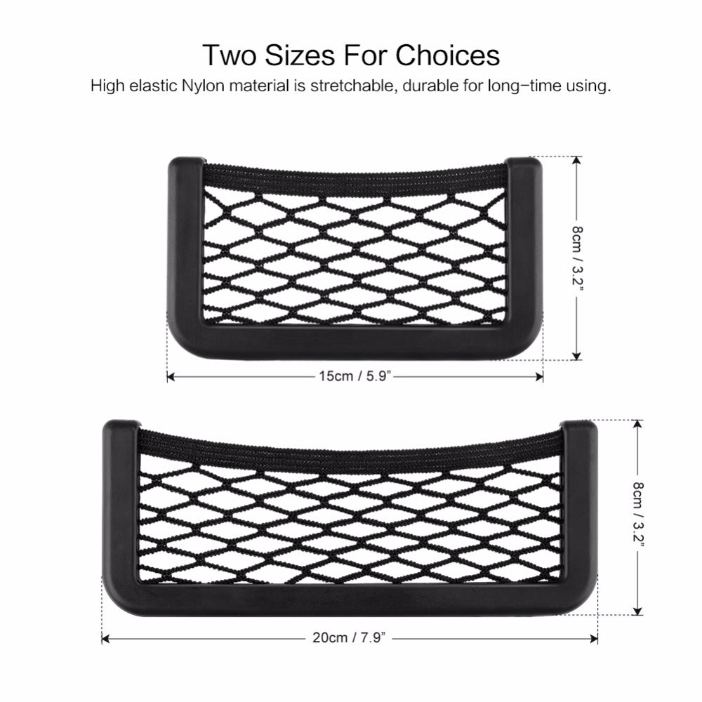 Pockets Black 15cm Or 20cm Car Net Storage Bag Box Adhesive Visor Car Bag For Tools