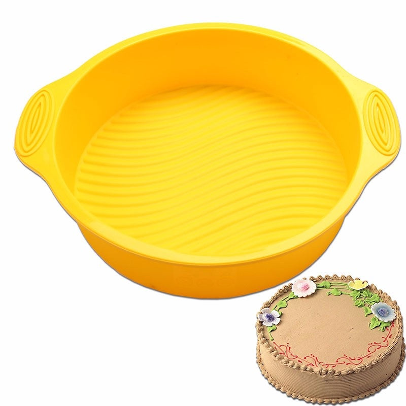 DlY Round Shape 3D Silicone Cake Mold Baking Tools