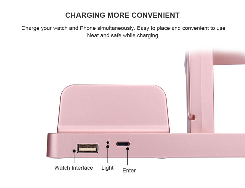 Charging Stand Bracket Docking Station Stock Cradle Holder for iPhone Apple Watch