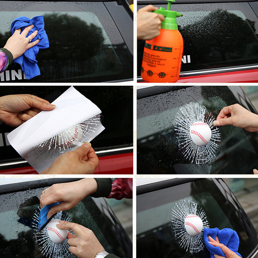 Funny 3D Decals Ball Car Styling Window Sticker